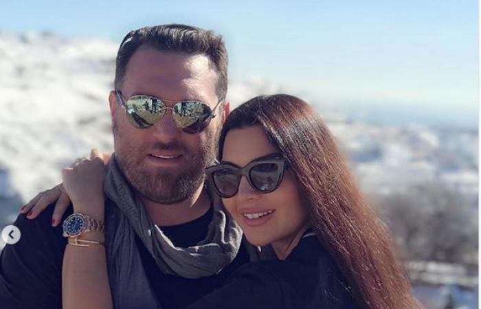 لاميتا فرنجية تمضي يومها على الثلج مع زوجها (صور)