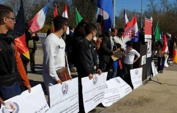 اليمن | جنيف.. وقفة احتجاجية ضد الانتهاكات الحوثية في حجور