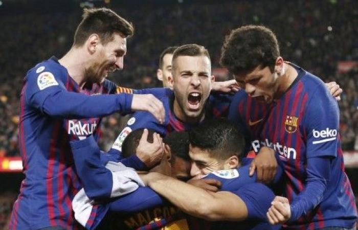 برشلونة يقترب من حسم لقب الليغا بفوزه على وصيفه اتلتيكو مدريد