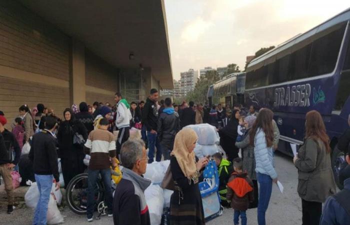 دفعة جديدة من النازحين السوريين انطلقت من طرابلس