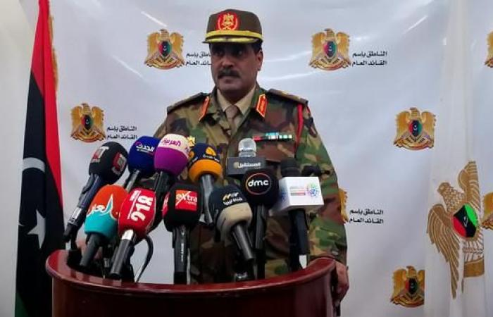 الجيش الليبي: معلومات بنقل حكومة الوفاق مقراتها لمصراتة