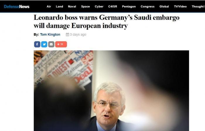 الخليح   رئيس شركة أسلحة إيطالية: حظر الصادرات للسعودية سيضر بأوروبا