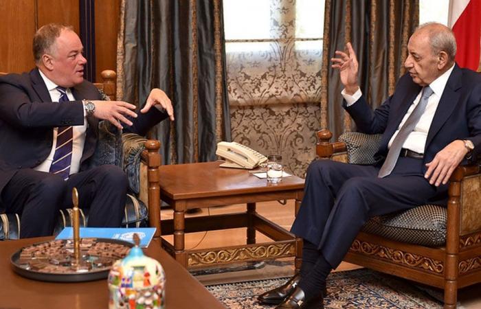 بري: لبنان مستعد لتثبيت المنطقة الاقتصادية