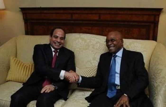 مصر   السيسي يبحث مع رئيس جنوب إفريقيا الأوضاع بليبيا والسودان