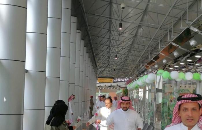 الخليح   أول رحلة تصل مطار نجران بعد توقف 4 سنوات