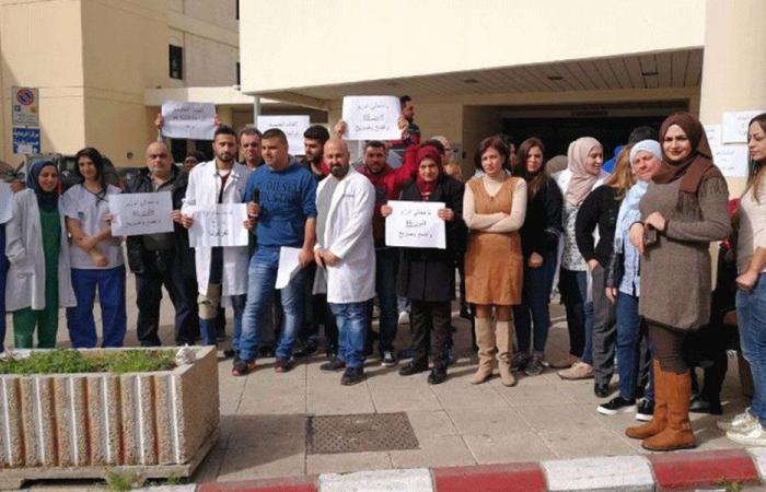بعد طلبهم للتحقيق.. موظفو مستشفى صيدا الحكومي يعتصمون