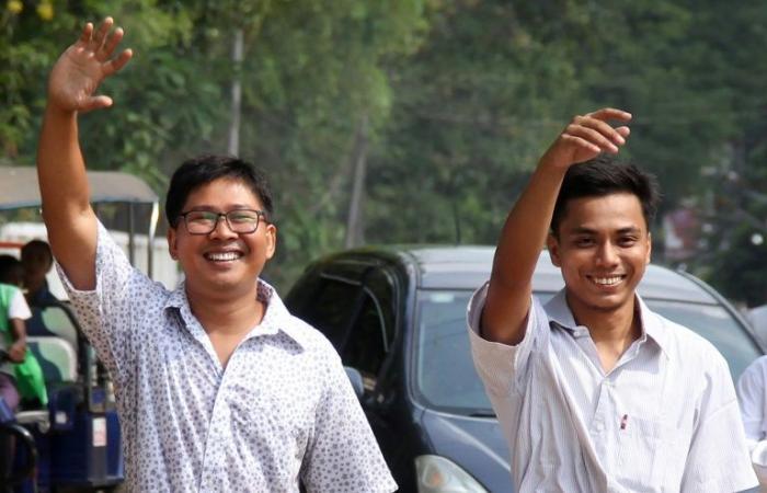 بورما تعفو عن صحافيي رويترز وتطلق سراحهما