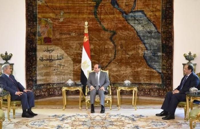 مصر   القاهرة.. السيسي يبحث مع حفتر دعم مصر للجيش الليبي
