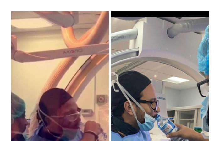 الخليح   شاهد إفطار دكتور سعودي داخل غرفة العمليات