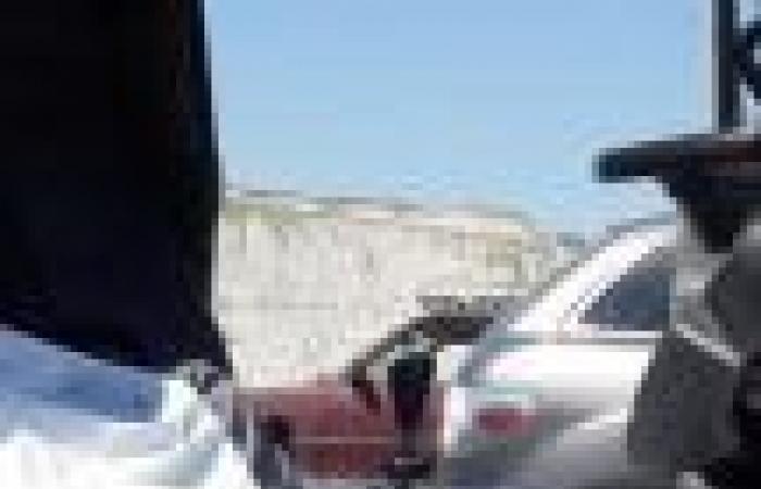 بالصور: قتيل بحادث سير في كفرحزير