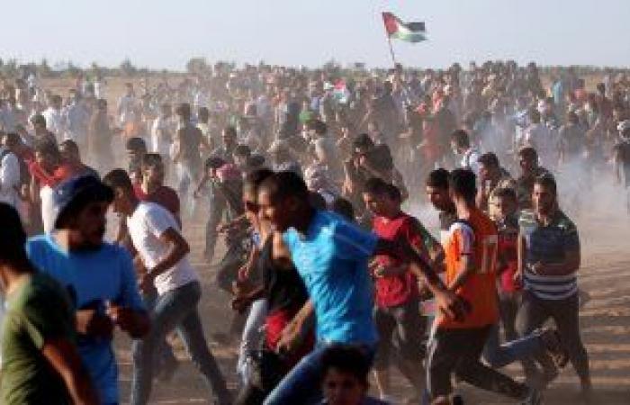 إصابات بالاختناق جراء قمع الاحتلال الإسرائيلى مسيرات بذكرى النكبة فى غزة