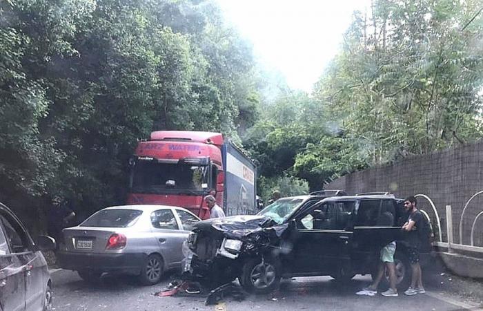 حادث سير على طريق ملتقى النهرين