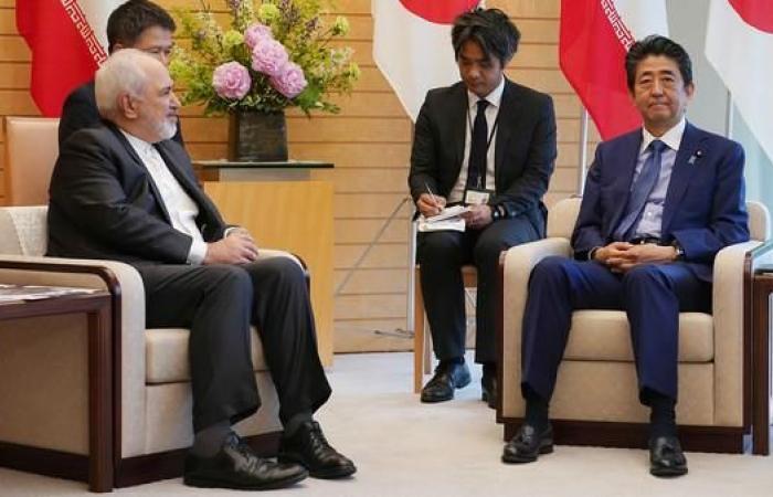 إيران   آبي لظريف: قلقون إزاء التوتر المتزايد في الشرق الأوسط