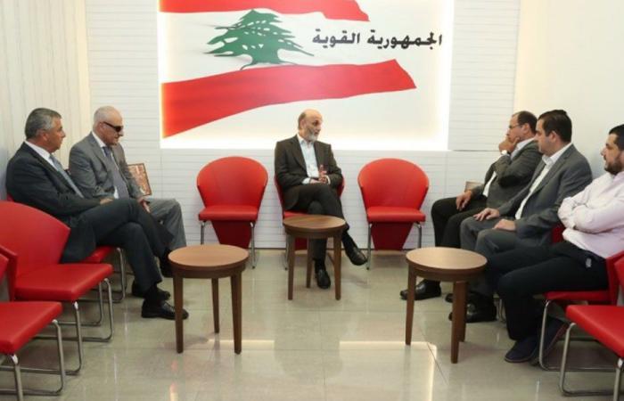 جعجع عرض مع بيروتي والرامي الوضع السياحي والعمالة الأجنبية