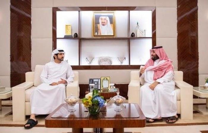الخليح   الملك سلمان وولي العهد السعودي يستقبلان ولي عهد دبي