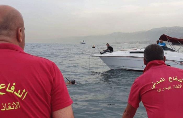 إنقاذ 3 مواطنين حوصروا على متن زورق مقابل مرفأ بيروت