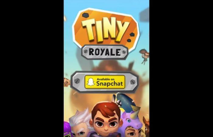سناب شات يضيف لعبة Tiny Royale على غرار فورتنايت