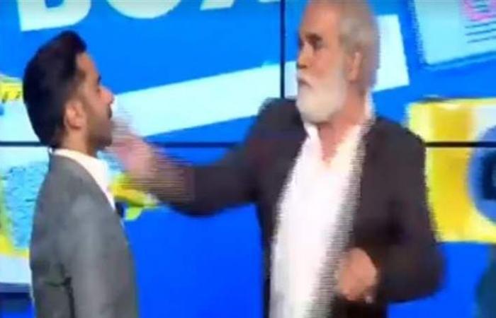 بيار رباط يتلقى صفعة على الهواء مباشرة من ممثل شهير (فيديو)