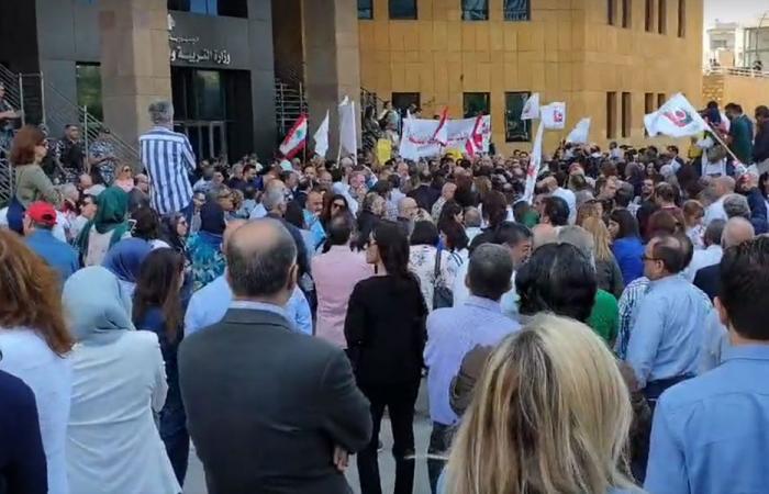 """إعتصام لمتعاقدي """"اللبنانية"""".. حامد: مماطلاتكم سوف تؤدي الى اقفال الجامعة"""