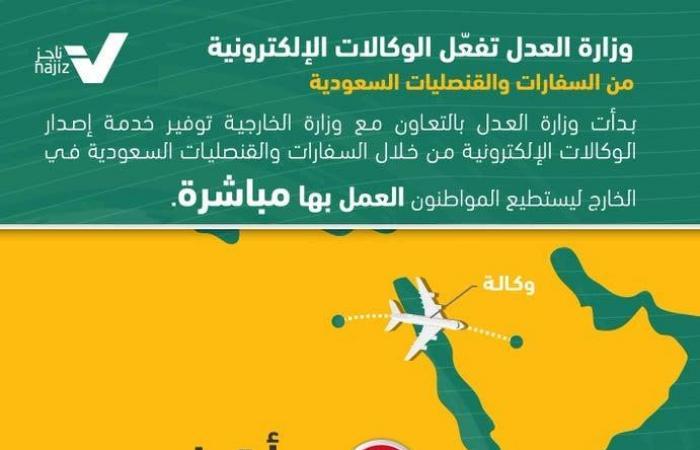 الخليح | وزارة العدل تدشن نظام إصدار الوكالات الإلكترونية بالخارج