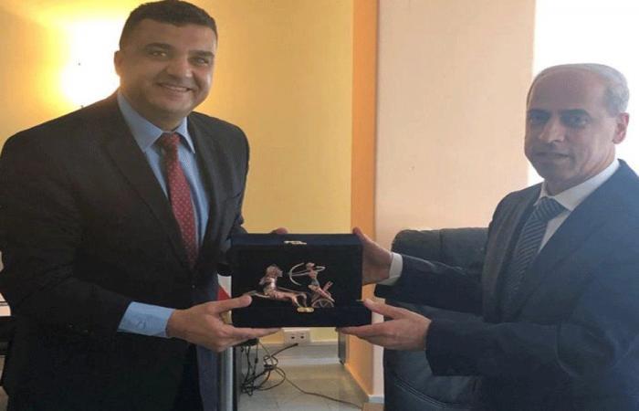 تعزيز التعاون بين خير وديبلوماسي مصري