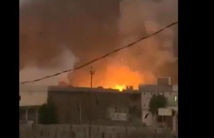 العراق | الصور الأولية لانفجار ضخم استهدف سلاح حزب الله العراقي