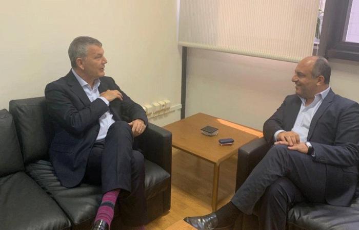 بو عاصي يبحث مع لازاريني دعم لبنان لتحمل اعباء النزوح السوري