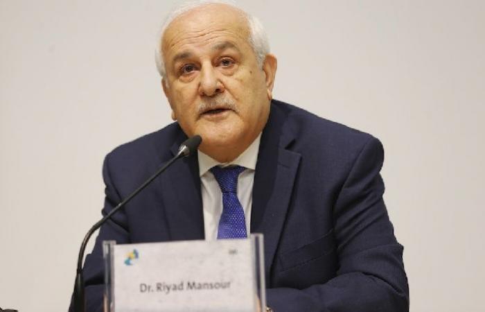 فلسطين | منصور: أمن وسلامة الشرق الأوسط مرتبط بتحقيق العدالة للقضية الفلسطينية