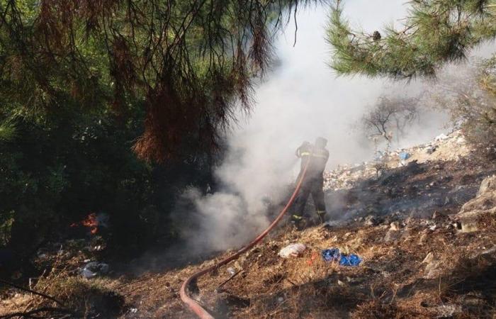 حريق بسبب إشعال النفايات في زغرتغرين ـ الضنية