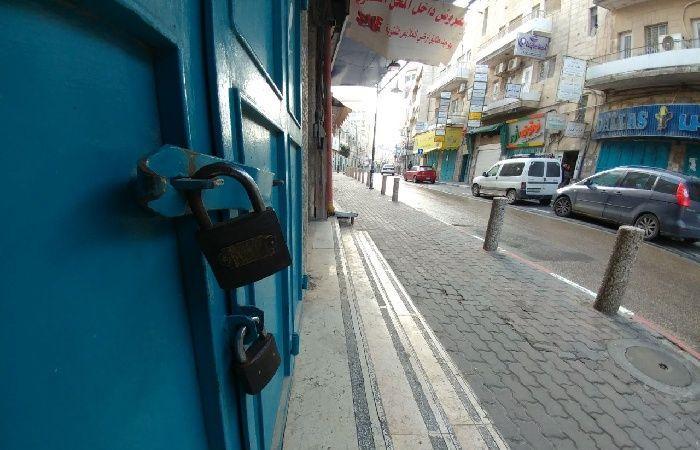 فلسطين | الإضراب يعم أبو ديس تضامنا مع الأسيرين حذيفة بدر وإسماعيل حلبية