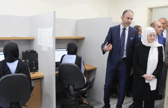 الحريري تفقدت الـcenter call كهرباء لبنان في صيدا