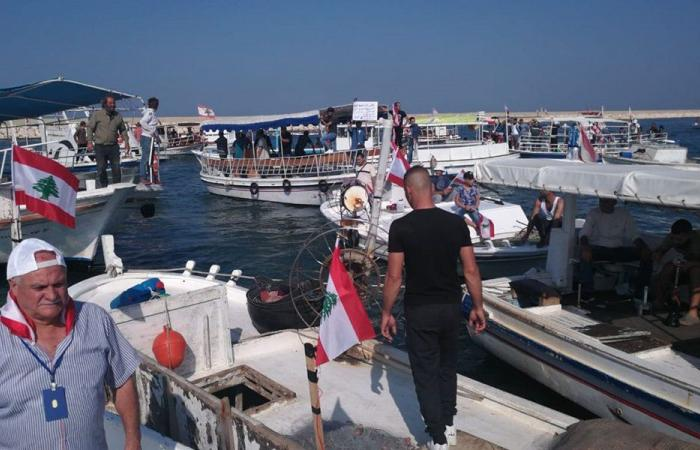 تظاهرة بحرية في الميناء