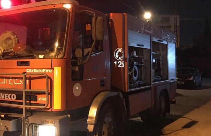 الدفاع المدني أخمد حريقين في عكار وإصابة متطوع بحالة اختناق