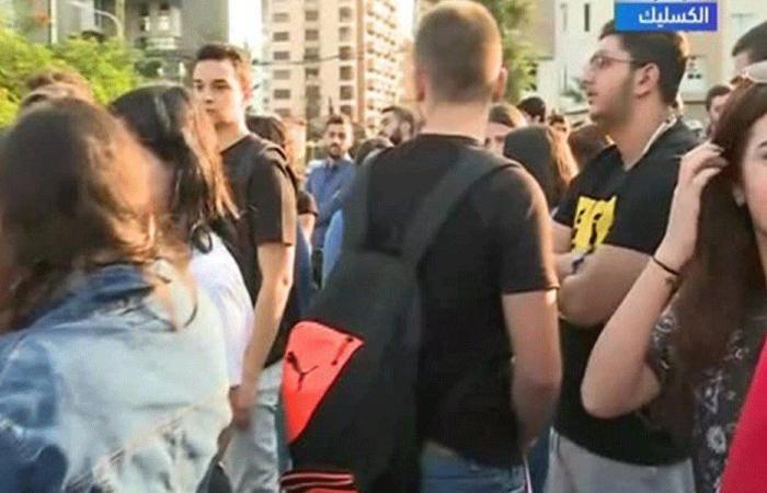 طلاب الـUSEK يقفلون كل مداخل الجامعة