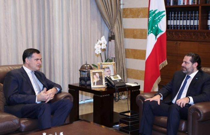 الحريري عرض آخر المستجدات مع الموفد الفرنسي