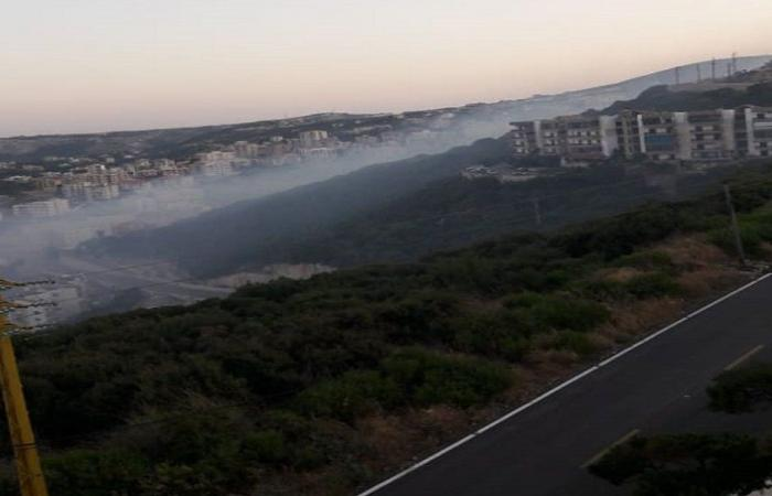 مكب وادي اده يحترق…(فيديو)