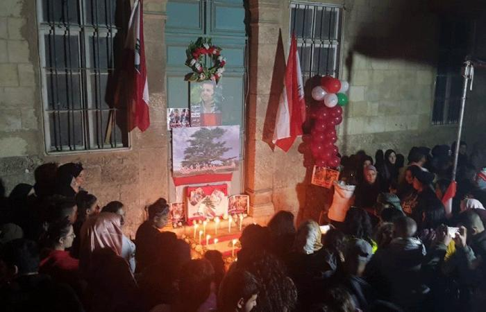 """""""حراك بعلبك"""" يضيء الشموع عن روح علاء أبو فخر"""