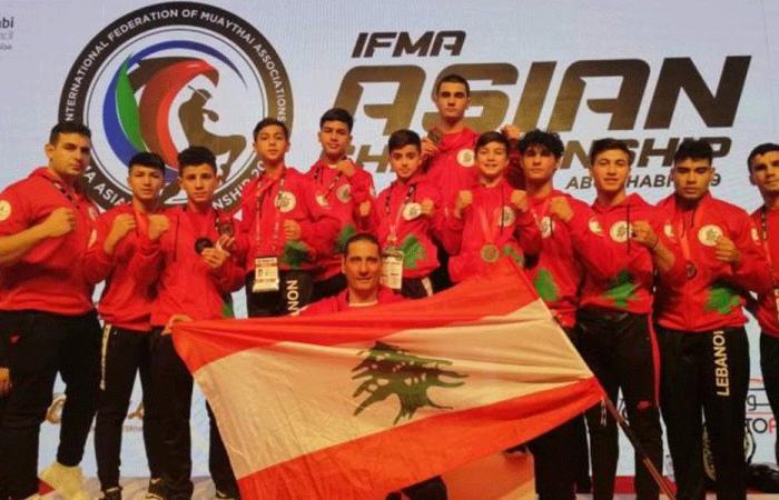 لبنان خامسًا في بطولة آسيا في المواي تاي