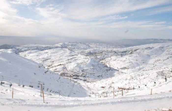 الثلوج غطت جبل الاربعين في الضنية