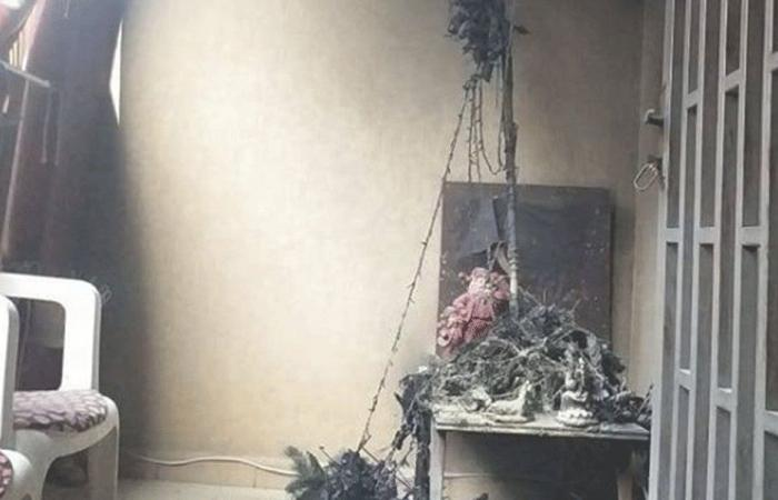 إخماد حريق داخل شقة في سد البوشرية