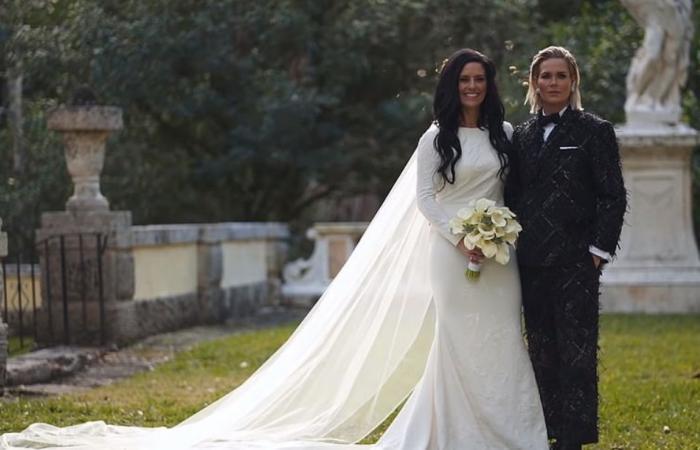 """زفاف شرق أوسطي أسطوري في ميامي.. والعروسان امرأتان """"آشلي وعلي"""" (فيديو)"""