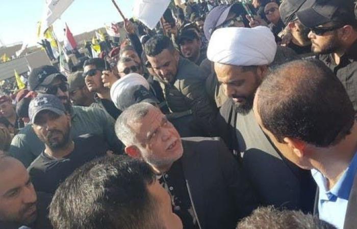 العراق   شاهد قادة الميليشيات يقودون احتجاجات سفارة أميركا ببغداد