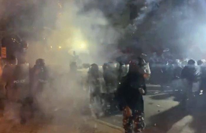 فيديو لقوى الأمن يوثّق الاعتداء على عناصرها