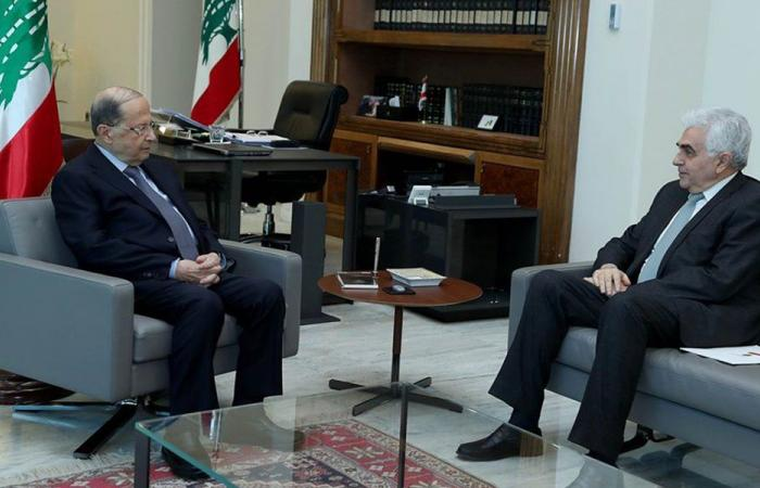حتي من بعبدا: لمسنا لدى المسؤولين الفرنسيين حرصاً على دعم لبنان