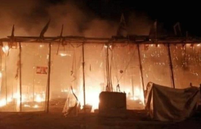 مجهولون أحرقوا خيمة الثورة في صوفر