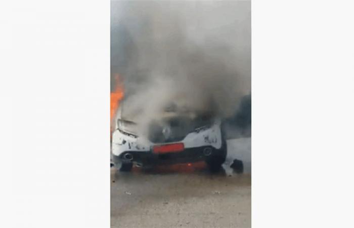 حرق سيارته بسبب محضر.. ونقيب سواقي الشمال يعلق!