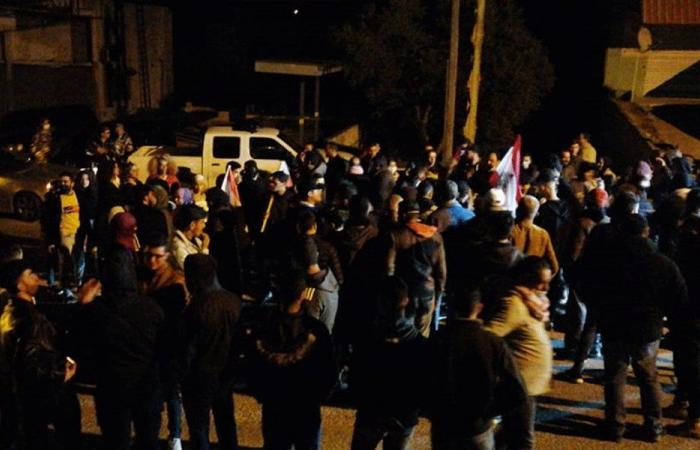 وقفة احتجاجية في سوق الخان-حاصبيا