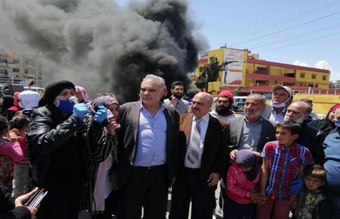 اعتصام وقطع مدخل بعلبك الجنوبي للمطالبة بقانون العفو العام