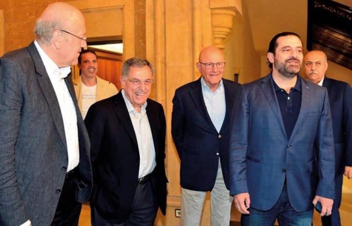 اجتماع لرؤساء الحكومة السابقين في بيت الوسط