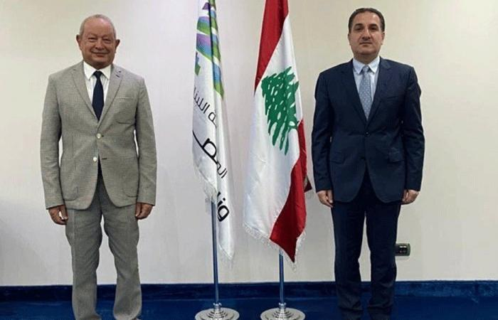 حواط التقى رئيس أوراسكوم للاتصالات